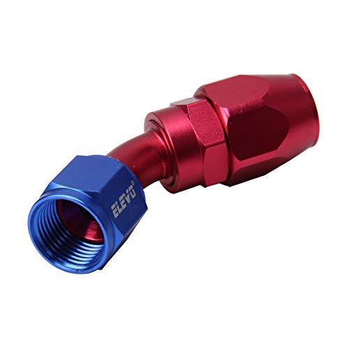 EUYBDZSW Juntas de tubería de 45 Grados Aceite Giratorio Adaptador de Combustible Aceite Aceite Aceite MANGUERGA DE COURIDAD, Ajuste DE Aluminio AN8 Accesorios DE Auto