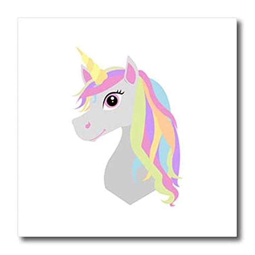 3dRose ht_261644_3 Rainbow Unicorn Iron On Heat Transfer, 10