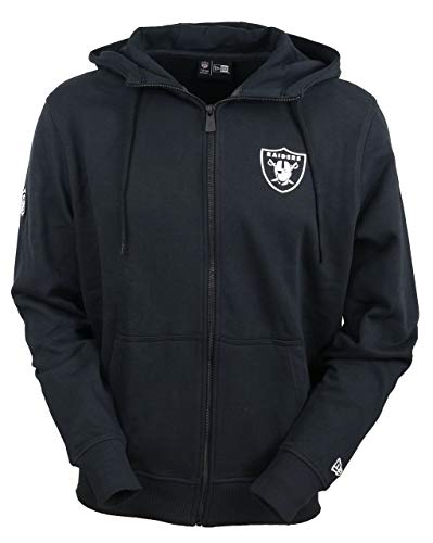 New Era Oakland Raiders Zip Hoody - Team Apparel NFL Established Number - Black - M