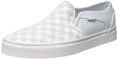 Vans Damen Asher Classic Slip On Sneaker, Pink ((Checkerboard) Baby Blue/White ROI), 39 EU