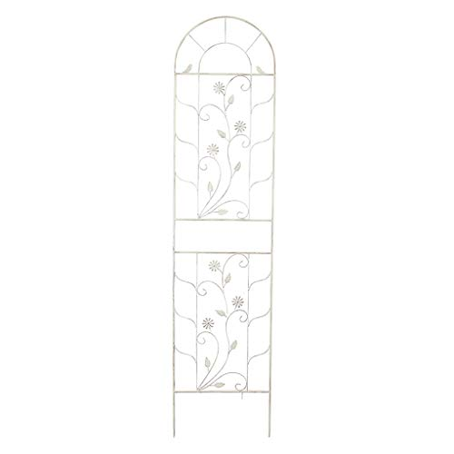 Outdoor Garden Trellis 2 Pack,for Climbing Plants Potted Plants Support Metal,Garden Wall Decor or Flowers Roses Vine Ivy Clematis