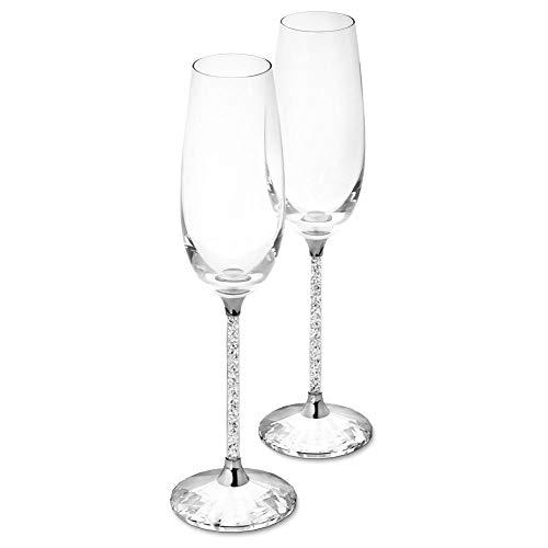 Champagneglas kristal champagneglazen bruiloft wijnglas cadeauset - set van 2 - 100% loodvrij premium kristalglas - het beste cadeau voor bruiloften, feesten en bijzondere feesten