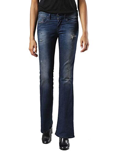 Diesel Lowleeh 0857C Jeans Donna Slim Bootcut (25W / 32L, Blu)