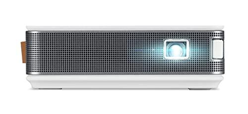 AOpen PV12 powered by Acer (DLP-LED Beamer (480p (854 x 480 Pixel) 700 Lumen 5.000:1 Kontrast, Keystone, 1x 2 Watt Lautsprecher, eingebauter Akku, HDMI (HDCP)) weiß - dunkelgrau, Portable / Mobil