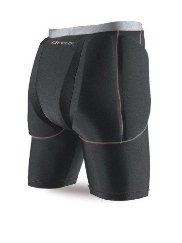 Seirus Innovation 5656 Super Padded Shorts for Skiing, Snowboarding and Outdoor Athletics - Small/Medium, Black