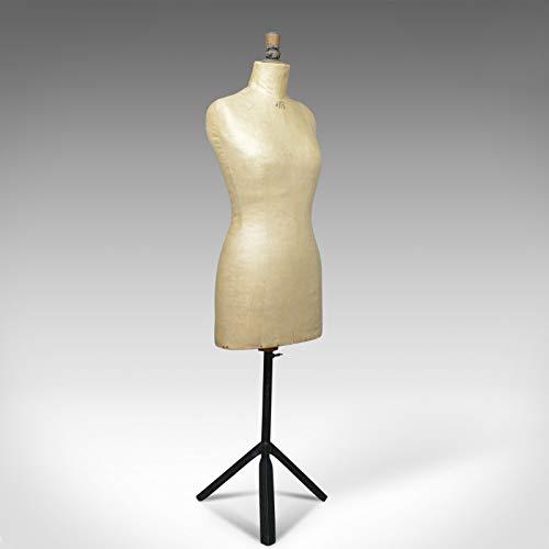 London Fine Antiques French Antique Dress Makers Dummy, Altura Ajustable, Tres Cuartos, c.1900