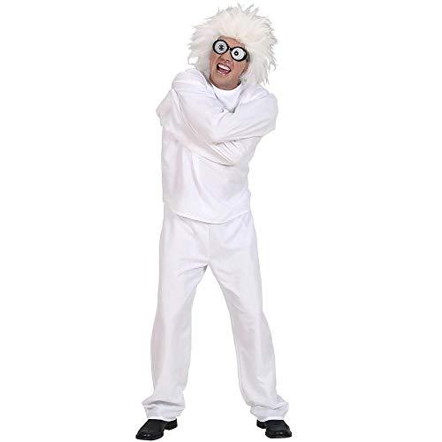 WIDMANN 59161?Adultos Disfraz wahnsinniger, coaccin Chaqueta y Pantaln, Color Blanco