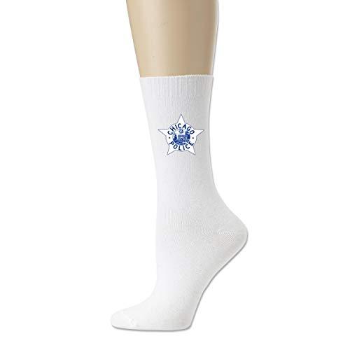 Calcetines atléticos de la novedad, calcetines respirables de la compresión del logotipo de la policía de Chicago