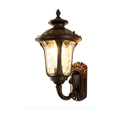 STERB Luz al Aire Libre Fuera Simple luz LED de Pared Iluminación Exterior Resistente a la Intemperie Jardín de Aluminio de la lámpara del Pasillo del Pasillo Europea Balcón Lámparas