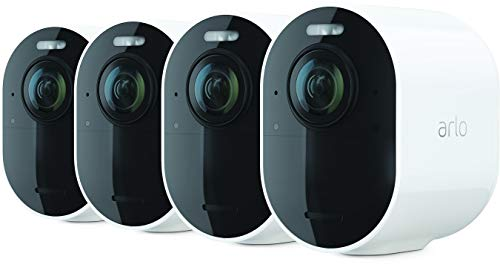 Arlo Ultra 2 Spotlight Security Camera CCTV System | Wire-Free, 4K Video & HDR | Color Night Vision, 2-Way Audio, 6-Month Battery Life, 180° View | Works with Alexa & Google | White |