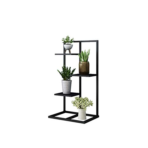 ZHEYANG Soporte para plantas de hierro de varias capas, soporte para flores de pie (80 cm/100 cm/120 cm) regalos para esposa (color: negro, tamaño: 80 cm)
