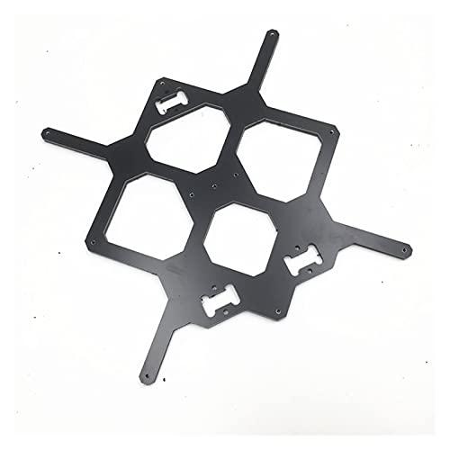 piaopiao Prusa i3 MK3 3D Printer Y Carriage 6MM thickness Aluminum composite Melamine heated plate DIY MK3 i3 3D printer accessory (Color : BLACK)