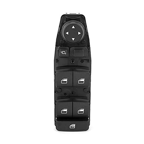 ZHIXIANG Botón de Inicio del Motor Interruptor de Encendido Delantero de la Ventana Delantera Delantera del Interruptor de la Ventana de alimentación Negra ABS para 3 Series 5 Series 7 Switch