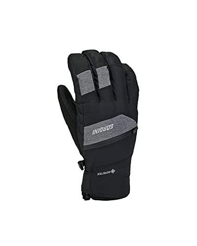 Gordini Herren Standard Rallye-Handschuhe, Schwarz/Gunmetal, Größe L