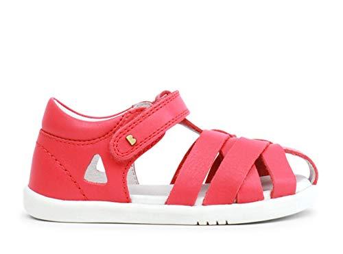 Bobux IW Tropicana Closed Sandal - Una sandalia de piel, suela flexible, cierre velcro. Cómoda, fresquita. Divertida y desenfadada para caminar, saltar y trepar todo el verano (Watermelon, numeric_22)