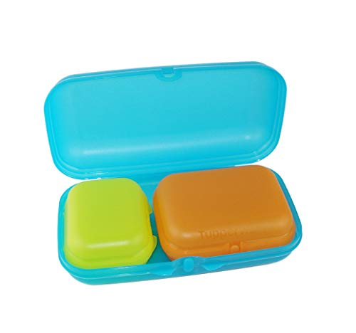 TUPPERWARE To Go Maxi-Twin hellblau+Twin limette Gr.1+Twin orange Gr.2 Dose 27676