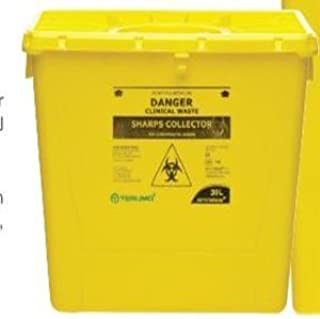 TERUMO NEEDLES SHARPS WASTE COLLECTOR 30L W/LID YELLOW EACH