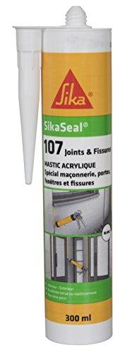 SikaSeal 107 Joints et Fissures, Mastic acrylique spécial façade – SNJF, 300ml, Blanc