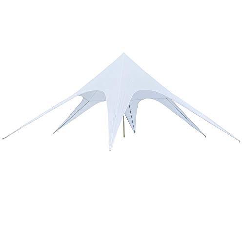 Outsunny - Toldo impermeable de poliéster, color blanco, 10 x 10 x 4 m