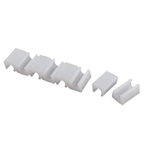 Protectores de punta de pata de silla antideslizantes en forma de rectángulo para muebles de plástico 10,5 mm de diámetro 8 piezas blanco