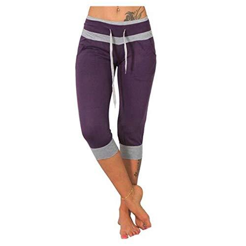 Women's Pants Elastic Waist, Linen Pants for Women Wide Leg Pants Baggy Tapered Cropped Pants Elastic Waist Cross-Leg Pants Lounge Trousers with Pocket
