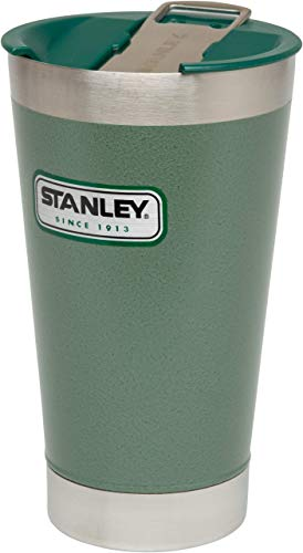 Stanley Classic Vacuum Steel Pint 470ml Mug One Size Hammertone Green