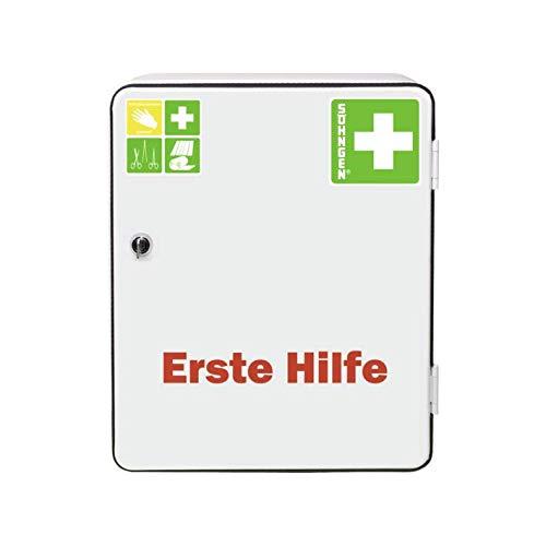Söhngen Verbandschrank Heidelberg (Standard DIN 13157, Verbandsmaterial, Rettungsdecke, etc, mit Sicherheitsschloss) weiß, 0501001