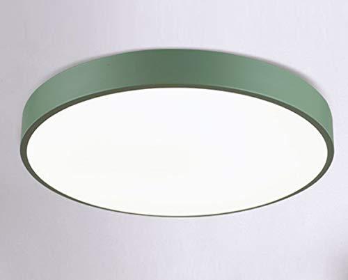 Ultrasottili Moderne Plafoniere LED Soffitto-Plafoniera Illuminazione Casa Famiglia Lampada Bianco Freddo 18W Verde