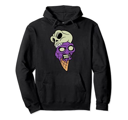 Crneo Esqueleto Disfraz de Halloween Helado Sundae Sudadera con Capucha