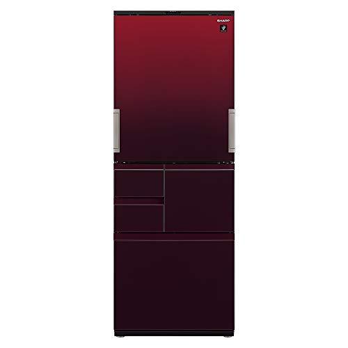 シャープSHARP冷蔵庫プラズマクラスター(幅68.5cm)502Lガラスドア両開きメガフリーザー5ドアグラデーションレッドSJ-AW50F-R