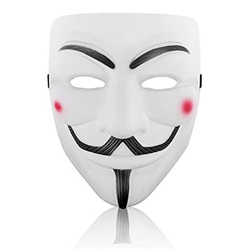 Hacker Mask for Costume Adult - V for Vendetta Anonymous Guy Masks for Halloween