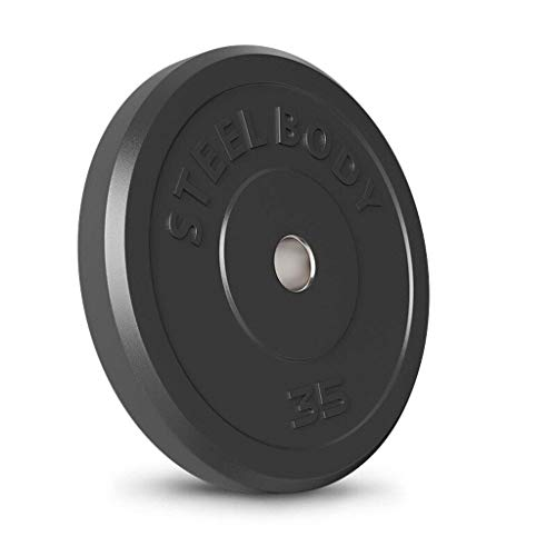 DSHUJC Barbell 2-Inch Olympic Grip Plate, Olympic Grip Plate Weight Set Barbell Set Home Rubberized Barbell Black 10lb, 25lb, 35lb, 45lb