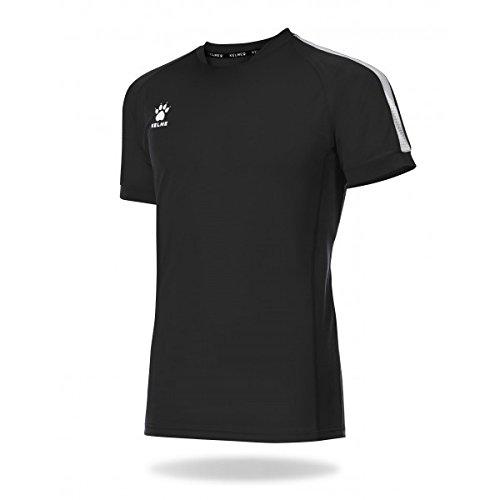 KELME Global Camiseta Fútbol, Niños, Negro, XS