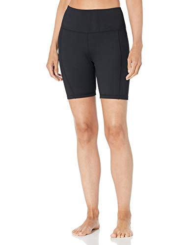 Danskin Women's Balance Bike Short, Black Salt, Medium