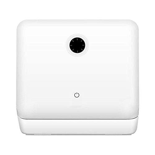 LKNJLL Complete Portable Lave-Vaisselle 8 Countertop litres intégré Réservoir d'eau, 5 programmes, Baby Care, Verre et Fruit Wash-Blanc