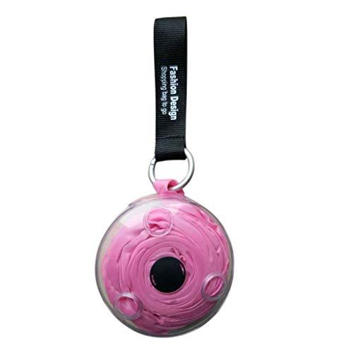 fivekim - Bolsa de Compras Plegable para Almacenamiento ecológico, Reutilizable, Color Rosa