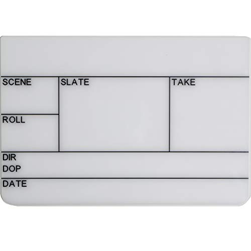 Filmsticks Clapperboard Acryl Board Maat: Medium, voor gebruik met Medium Clappersticks