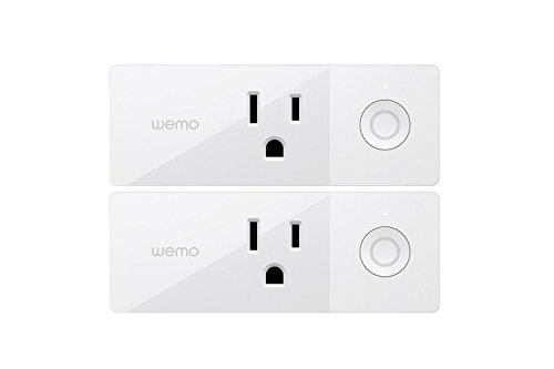 WeMo 4T-T3X2-Y1HT plug in light and appliances control, 2 Pack, White