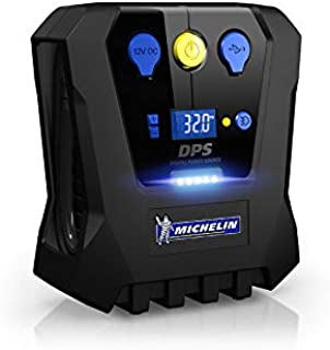 Michelin Programmable High Power Rapid Digital Tyre Inflator 12 Volt Compressor (12V) with 0 to 30 PSI in 3 Minutes (12266)