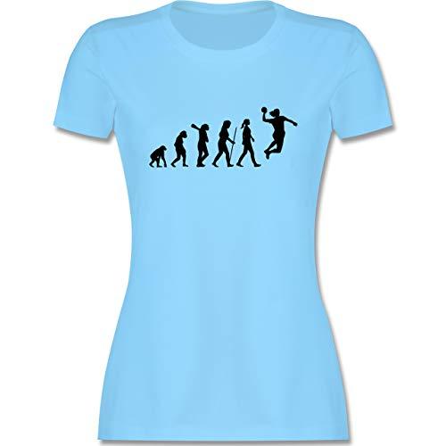 Evolution - Handball Evolution Damen - S - Hellblau - Kurzarm - L191 - Tailliertes Tshirt für Damen und Frauen T-Shirt
