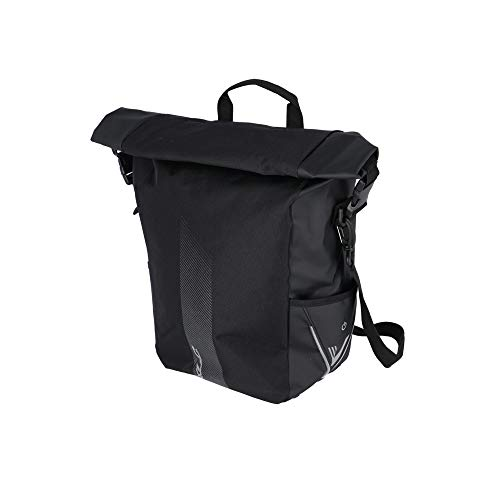XLC Unisex-Adult V-Light Rolltop Bicycle Bag, Zwart, 28 Liter