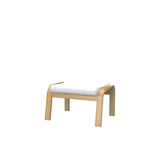 Soferia Funda de Repuesto para IKEA POÄNG reposapiés, Tela Eco Leather White, Blanco