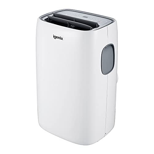 Igenix IG9922 4-in-1 Portable Air Conditioner, Cooling, Fan, Dehumidifier, 24 Hour Timer, 12000 BTU White
