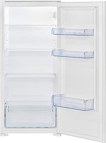 Bomann Einbau-Vollraumkühlschrank VSE 7806 / LED-Beleuchtung/wechselbarer Türanschlag/Nutzinhalt: 199 Liter/SMART Funktion, Weiß