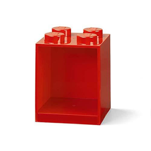 Room Copenhagen Estantería de Bloques Lego 4 Elementos, Rojo, roja, 4 ladrillo