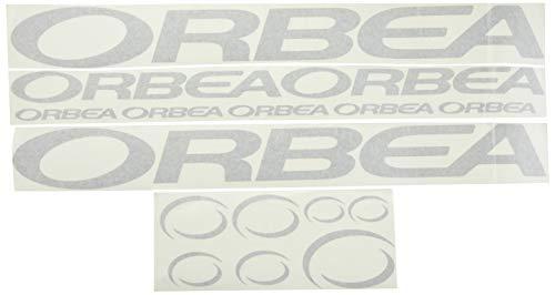 Ecoshirt 7P-MPYM-092N Pegatinas Orbea F208 Stickers Aufkleber Decals Adesivi Bicycle Bike MTB BTT, Plata