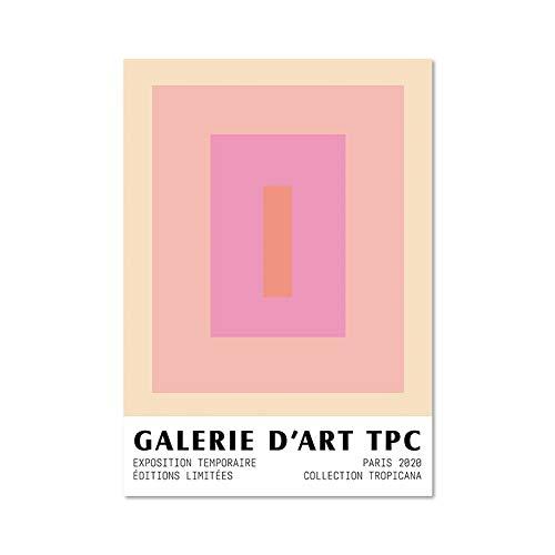 Bloque de color Matisse obra de arte abstracto lienzo pintura estatua griega arte impresión familia lienzo sin marco pintura A 30x45cm