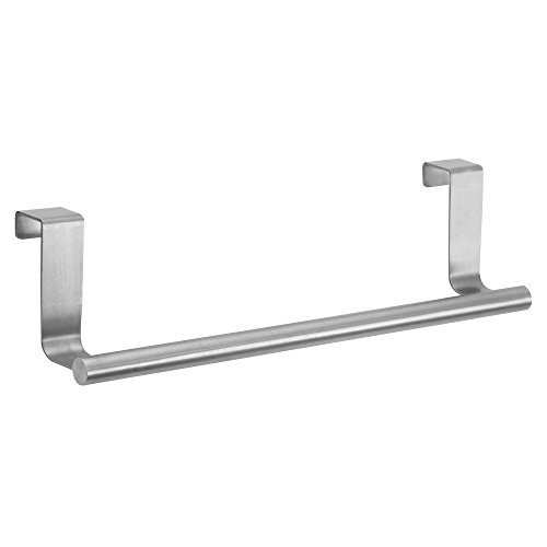 "Price comparison product image InterDesign Forma Kitchen Over Cabinet 9"" Dish Towel Bar,  Brushed Stainless Steel"