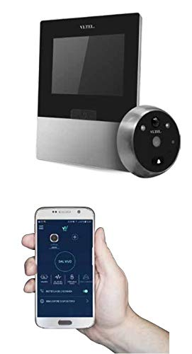 Mirilla digital Wi-Fi con sensor de movimiento - VI.TEL. E0595 - Color cromado