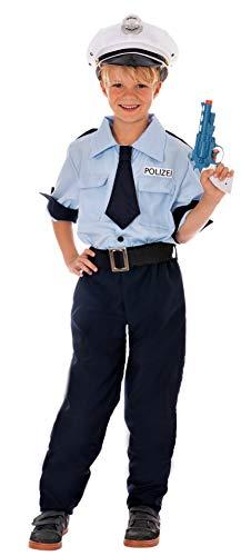 Magicoo Deutsche Polizei Kostüm Kinder Jungen - Gr 110 bis 140 - Fasching Polizist Kostüm Kinder (122/128)
